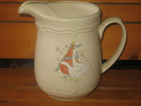 Geese or Duck Pitcher Sweet Hard to Find  :)
