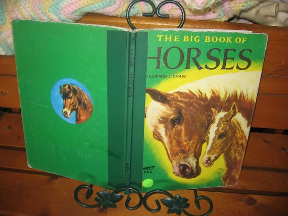 1951 Ex Library Book The Big Book Of Horses Hard Bound