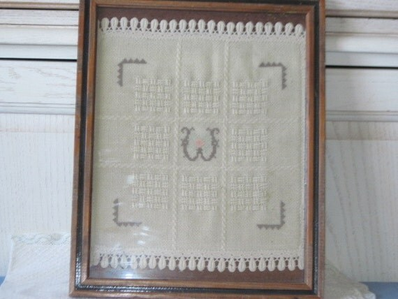 Embroidery W Picture Sweet 15 inches by 12 inches 1977  / S /