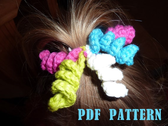 Crochet Hair Bows : Crochet PATTERN Korker Bows Hair Elastic - PDF - Instant Download