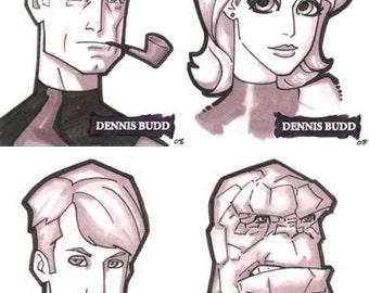 Fantastic Four sketch cards set of 4