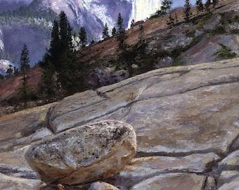 Landscape oil painting- Half Dome