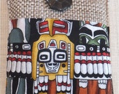 SALE, Native American,  Cell phone case /  phone sleeve, Blackberry cover, Phone wallet, JUTE, was 19.00 US