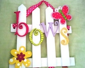 Customizable Picket Fence Bow Holder