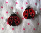 Lady Bug Hair Clippies