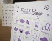 Bridal Shower Bingo Cards - 5 x 5 - Set of 10