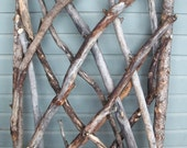 RESERVED for Judith: Rustic Stickwork Garden Gate, Fence Gate, The Stick Stack