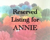 Reserved Listing for ANNIE