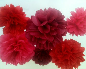 10 Tissue Paper Pom Poms-- Choose Your Colors-- Classroom/ Reception/ Wedding/ Surprise Party Decorations