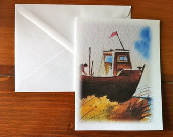 from Boat Beached on Dune Greeting Card - Scene 2 (Blank Inside)