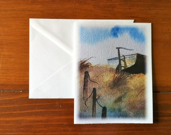 from Boat Beached on Dune Greeting Card - Scene 3 (Blank Inside)