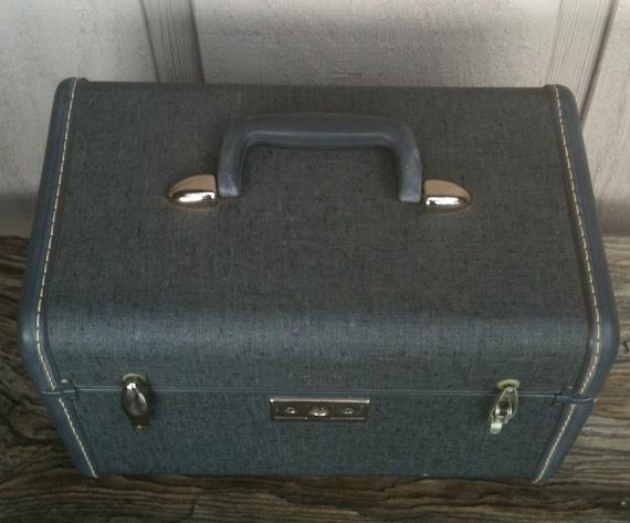 Vintage Samsonite Overnight Tweed Train Case - Travel Case Luggage