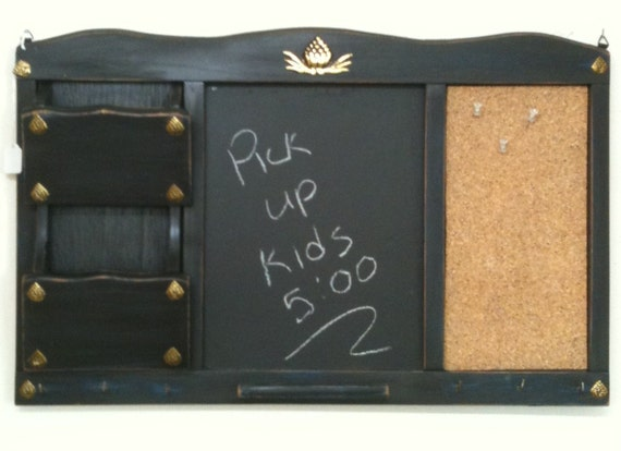Chalk Board Message Mail Center Family Organizer Vintage