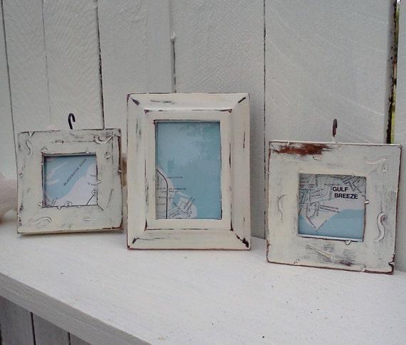 Shabby Beach Cottage Frames Chippy upcycled vintage Shabby Chic Frames Cottage Chic