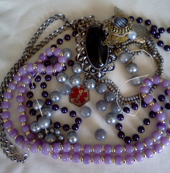Vintage Medic alert jewelry Necklace Boho Goth Hipster Collection