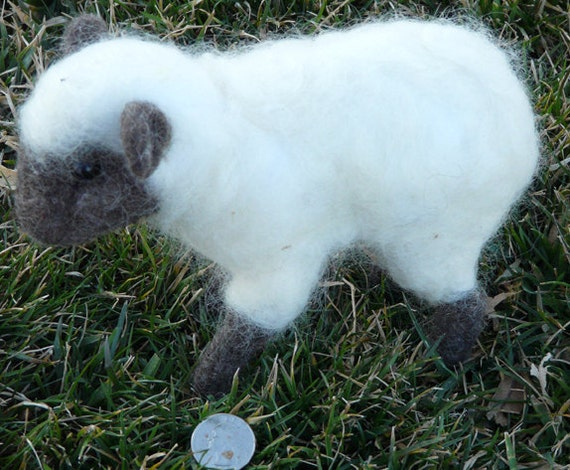 Needle felted soft sculpture sheep-made to order