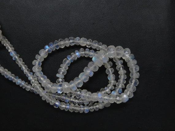 Rainbow moonstone 16 Inches 4mm Appox Top AAA Quality Micro Faceted Roundell Beads