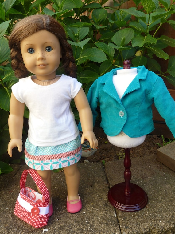 American Girl Doll Clothes - Sassy Spring Separates -4 pc. outfit including blazer, skirt, t-shirt and handbag