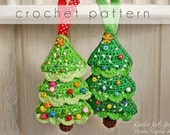 Crochet Pattern - Christmas Tree Ornament - eBook/pdf pattern