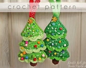 Crochet Pattern - Christmas Tree Ornament - eBook/pdf pattern