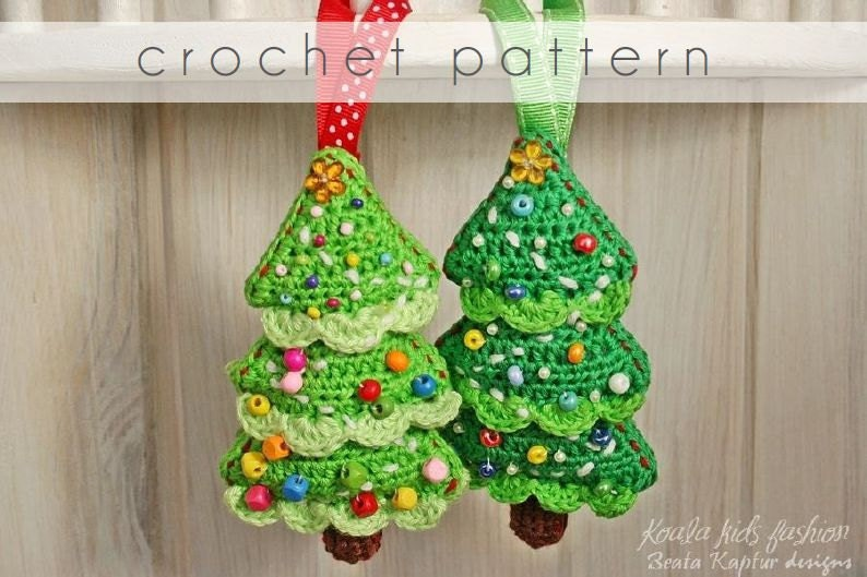 Crochet Ornaments : Crochet Pattern Christmas Tree Ornament by BeaKapturDesigns