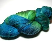 "RESERVED FOR HELEN Hand-painted Sock Yarn ""Cayman"" Superwash Merino"