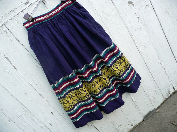Fabulous Vintage Embroidered Skirt