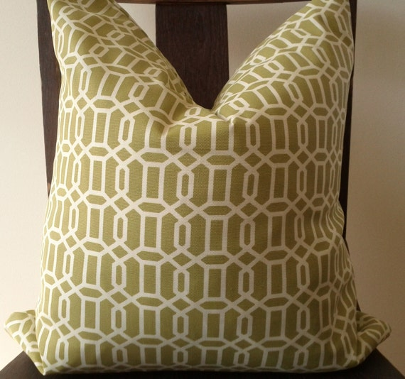 18x18 pillow in Kiwi Trellis by Croscill Home