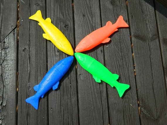 Back to School Fish Pencil Cases. 1980s Vintage, Great Condition, Leadworks Made in Italy