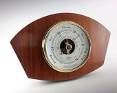 Attractive English Vintage Wooden Wall Barometer by SB