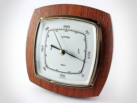 Chunky Vintage 1970s German Wall Barometer by Diplex