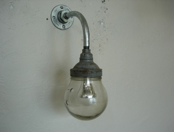 ANTIQUE INDUSTRIAL LIGHT - One of a Kind Benjamin Moisture/Dust Proof Industrial light used for Target Practice