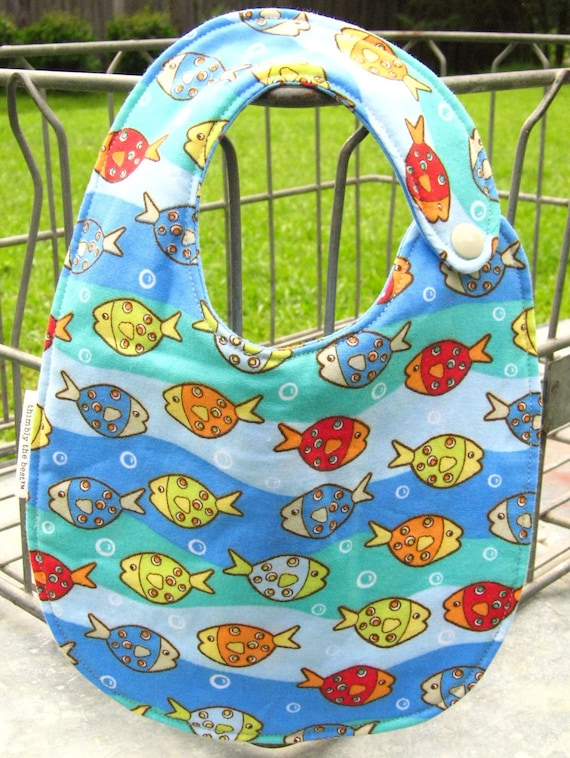 Baby Bib: Toddler Bib, Bib with Snaps, Baby Shower Gift, Baby Boy Gift, Blue Red Yellow Tan Orange Green White