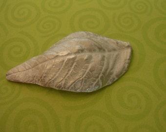 Basil leaf casting, large leaf, sterling silver, cast metalsmiths component UL001