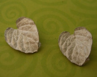 cast silver leaves lamium leaves metalsmiths raw casting UL002-2