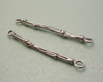 earring connector sterling silver twig finding FT008-2