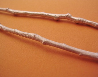 twig sterling silver raw cast twig long silver twig UT001-2