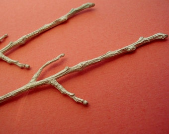 sterling silver cast twig branches raw twigs UT005-2