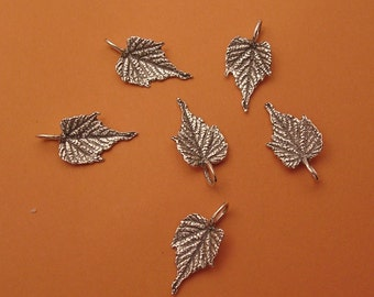 grape leaf charms handmade sterling silver charms LC008-6