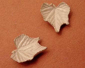 cast leaves, silver grape leaves, raw sterling silver, metalsmith jeweler supplies UL006-2