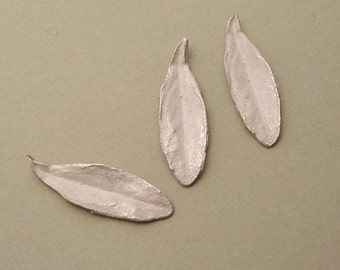 long silver leaves sterling leaf castings silversmithing supplies UL022-3