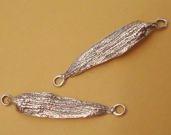 poplar seeds earring connectors sterling silver jewelry making supplies C107-2