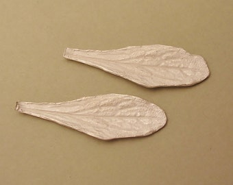 long silver leaves raw sterling silver castings silversmith supplies UL026-2