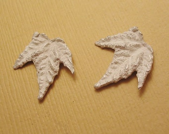 cast silver maple leaves findings unfinished raw castings metalsmithing supplies UL027-2