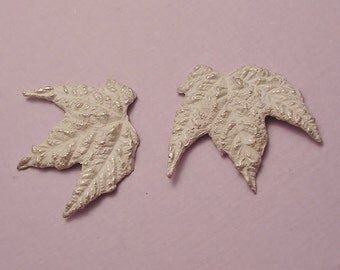 maple leaves sterling silver cast leaves metalsmithing supplies UL028-2