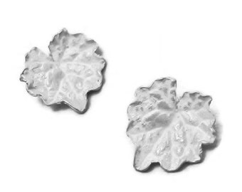 raw sterling silver cast ivy leaves silversmiths supplies UL009-2