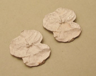 pansy silver flowers raw castings silversmithing supplies UF009-2