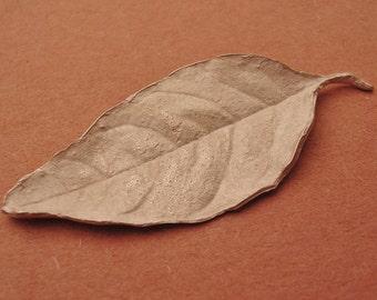 lilac leaf casting, large silver leaf, sterling leaf finding UL018-1