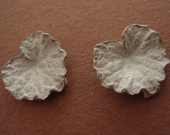 hand cast, ivy leaf, findings, raw sterling silver, silversmith supplies UL003-2