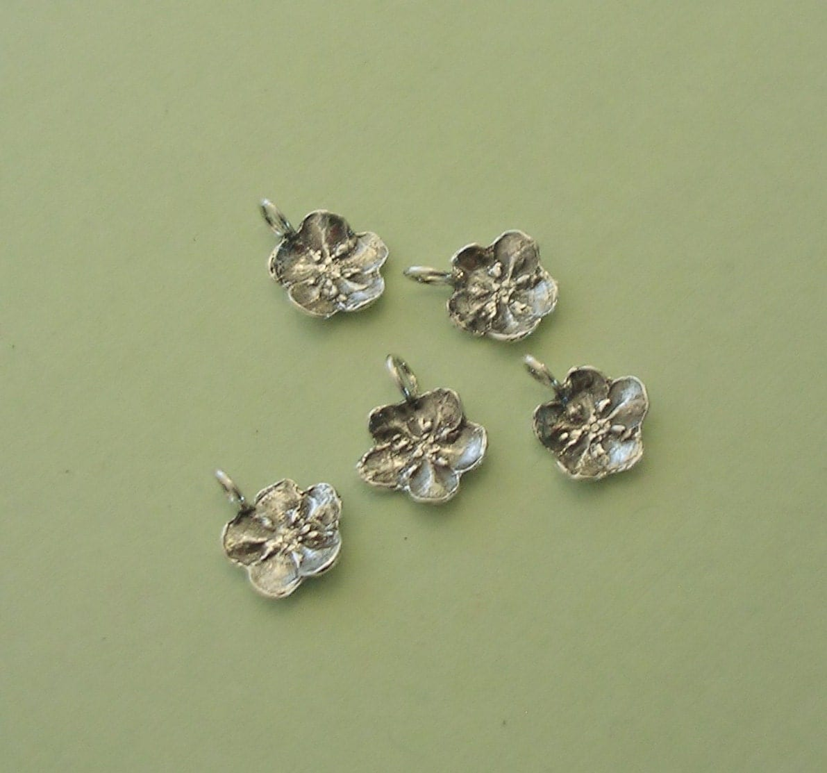 forget me not charms sterling silver flower charms fc001 5